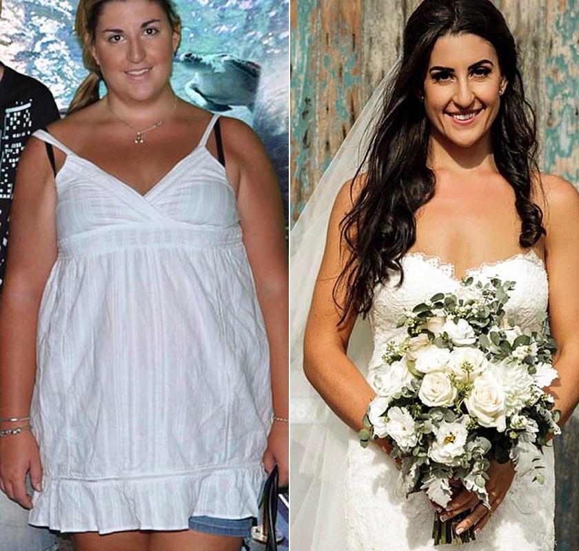 fogyókúrás menyasszonyok előtte és utána egészséges finom ételek fogyni