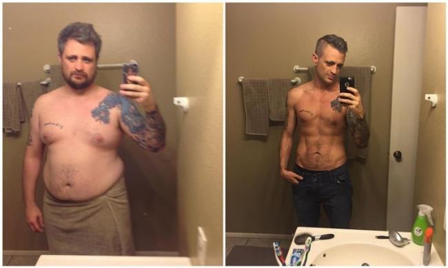 kis fogyás előtt és után